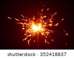 christmas sparkler in haze with ... | Shutterstock . vector #352418837