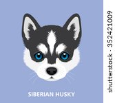 vector illustration portrait of ... | Shutterstock .eps vector #352421009