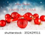 christmas background with red...   Shutterstock . vector #352429511