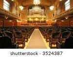 Old Auditorium With Organ  Gol...