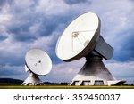 group of modern satellite...
