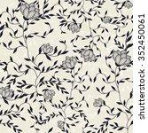 seamless floral pattern | Shutterstock .eps vector #352450061