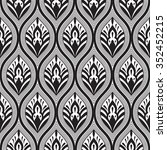 seamless doodle floral pattern | Shutterstock . vector #352452215