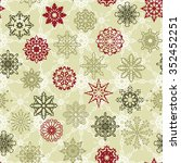 seamless pattern with snowflakes | Shutterstock . vector #352452251