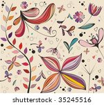 vintage floral patterns | Shutterstock .eps vector #35245516