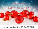 christmas background with red...   Shutterstock . vector #352462304