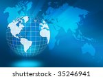 best concept of global business | Shutterstock . vector #35246941