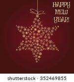 christmas star  snowflake... | Shutterstock .eps vector #352469855