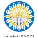 holy spirit symbol  dove with... | Shutterstock .eps vector #352472399