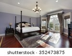 large master bedroom with doors ... | Shutterstock . vector #352473875