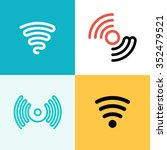 wifi logo set. wifi zone | Shutterstock .eps vector #352479521