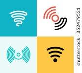 wifi logo set. wifi zone | Shutterstock .eps vector #352479521