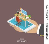 online job searching isometric... | Shutterstock .eps vector #352482791