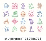 collection of christmas... | Shutterstock .eps vector #352486715