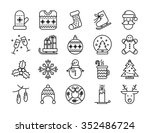 collection of christmas line... | Shutterstock .eps vector #352486724