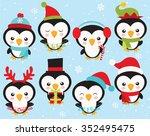 little penguins  2 | Shutterstock .eps vector #352495475