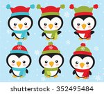 little penguins  1 | Shutterstock .eps vector #352495484