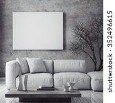 mock up poster with vintage... | Shutterstock . vector #352496615