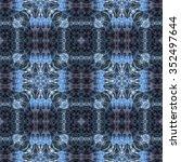 kaleidoscopic wallpaper tiles | Shutterstock . vector #352497644