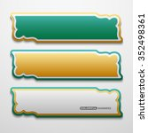 set of 3d banners template with ... | Shutterstock .eps vector #352498361