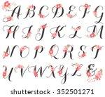 floral monogram alphabet... | Shutterstock .eps vector #352501271