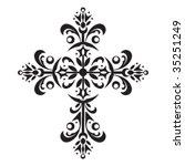 decorative cross | Shutterstock .eps vector #35251249