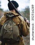 brutal hunter  bearded man in...   Shutterstock . vector #352516289