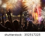 new year concept   cheering... | Shutterstock . vector #352517225