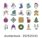 collection of christmas winter... | Shutterstock .eps vector #352525151