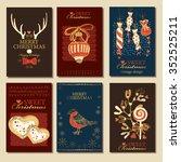 vector set. christmas cards .... | Shutterstock .eps vector #352525211