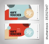 abstract gift voucher or coupon ...   Shutterstock .eps vector #352527647