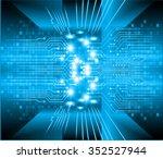 dark blue color light abstract... | Shutterstock .eps vector #352527944