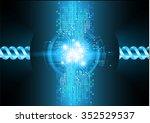 dark blue color light abstract... | Shutterstock .eps vector #352529537