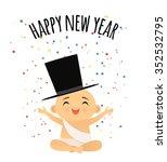 baby new year celebrating under ...