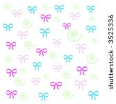 colorful bows and swirls ... | Shutterstock . vector #3525336