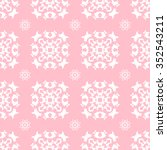 tints of pink seamless pattern  ... | Shutterstock .eps vector #352543211