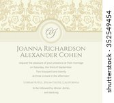 invitation and announcement... | Shutterstock .eps vector #352549454