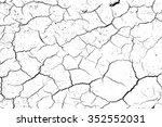 cracks texture white and black | Shutterstock .eps vector #352552031