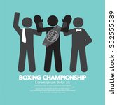 black symbol boxing... | Shutterstock .eps vector #352555589