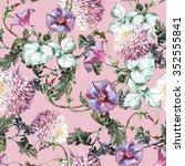 chrysanthemum  ipomoea flowers  ... | Shutterstock . vector #352555841