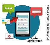 digital advertising and... | Shutterstock .eps vector #352559351