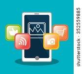 social media entertaiment...   Shutterstock .eps vector #352559885