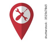 repair   vector icon  red map ...
