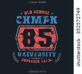 university sports emblem.... | Shutterstock .eps vector #352572749
