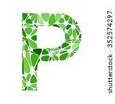 green alphabet cell style ... | Shutterstock .eps vector #352574297