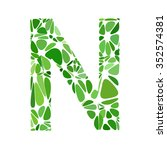 green alphabet cell style ...   Shutterstock .eps vector #352574381