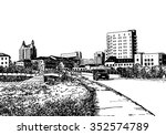 city view urban scene.... | Shutterstock . vector #352574789
