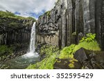 Svartifoss Waterfall In...