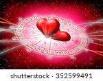 red background of astrology and ... | Shutterstock . vector #352599491