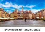 old town square in warsaw in a... | Shutterstock . vector #352601831